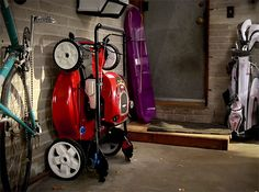 """Toro SmartStow Mower - This stowable, 22"""" push mower will handle your lawn when the time comes and then fold-up & tuck neatly into a corner of the garage when you're not walking behind it."""
