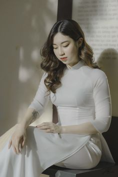 Office Set, Hot Dress, Ao Dai, Asian Woman, Cool Pictures, Photoshoot, Sexy, Beautiful, Honey