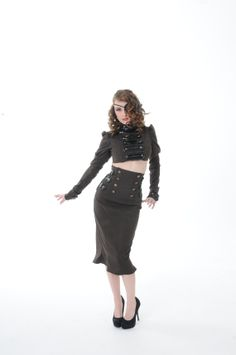 Green+Brown+Military+goth+Dieselpunk+by+sugarstitchescouture,+$175.00