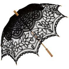 Remedios Wedding Bridal Lace Sun Parasol Umbrella Photo Props... ($22) ❤ liked on Polyvore featuring accessories, umbrellas, bride umbrella, lace umbrella, remedios and bridal umbrellas