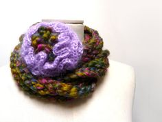 RESERVED  Scarf Necklace Loop Infinity Scarf Crochet by ixela, $38.00