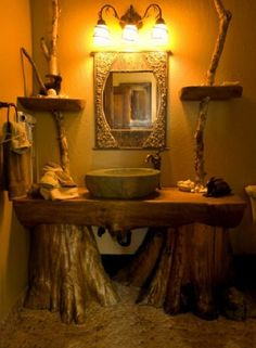 23 Fantastic Rustic Bathroom Design Ideas