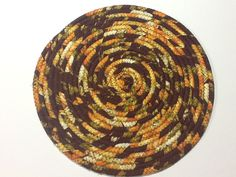 Thanksgiving Coiled Rope Trivet, Autumn Hot Pad, Coiled Rope Trivet, Quiltsy Handmade by Clothstitched on Etsy