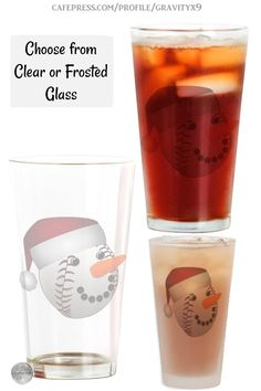* Baseball Snowman Christmas Drinking Glass by #Gravityx9 at Cafepress #Sports4you * A nice gift for friend, gift for coworker, family or your Christmas Kitchen. Made of durable lead free glass, this drinking glass has a classic feel, holds 16 fluid ounces & is a staple pint glass. * This Design is available on aprons, shirts and more. * Christmas drinking glass * Christmas glass tumblers * #ChristmasKitchen #Christmas #snowman #Christmasgift #baseball #drinkware #ChristmasKitchen 0920