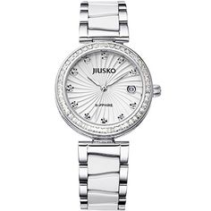 Jiusko 41MY01 1 Womens Luxury Watch  The Quartz Movement Displays a Diamond Bezel and Sapphires >>> Read more  at the image link. (Note:Amazon affiliate link)