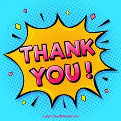 Thank you composition in comic style Free Vector Pop Art Illustration, Illustrations, Desenho Pop Art, Pop Art Women, Teacher Stickers, Pop Art Girl, Pop Art Design, Bd Comics, Cute Little Things