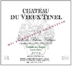 Chateau du Vieux Tinel #CotesduRhone  Varietal:  80% Grenache, 20% Syrah  Color: Dark garnet red  Bouquet: Deep, rich with notes of dark fruit with leather,earth and menthol.  Taste: Complex mouth-filling flavors of wild dark berries, with hints of #clove, #coffee and ripe black fruit. Fresh and well balanced with an #elegant finish.   Food Pairing:  Roasted meats, #lamb chops, #game birds, and flavorful cheeses.