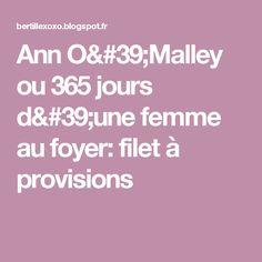 Ann O'Malley ou 365 jours d'une femme au foyer: filet à provisions