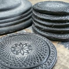 Onderzetters van klei gemaakt. #byAkkie #madebyme