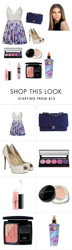 """""""Sin título #87"""" by rmsets ❤ liked on Polyvore featuring Ally Fashion, Chanel, Christian Louboutin, MAC Cosmetics, Maybelline, Marc Jacobs, Christian Dior and Victoria's Secret"""