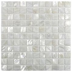 "White 1"" x 1"" Pearl Shell Tile"