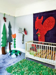 Kid's room in the house of british textile designer Donna Wilson, http://donnawilsonsblog.blogspot.co.uk/2014/05/donna-jon-and-elis-new-home-in-telegraph.html