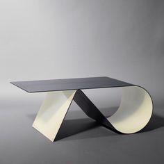 meuble tv un bloc de bois assemblé à une feuille d'acier! | design ... - Meuble En Acier Design
