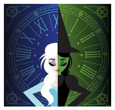 Elsa-ba illustration! ( Elsa + Elphaba) both powerful and outcasted women brought to life by Idina Menzel