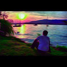 Zurich lake captured and rendered via the FREE AurynCam iPhone app