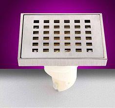 SSBY Fashion modern bathroom floor drains four copper wire drawing border police stinky floor drains LTK5010C