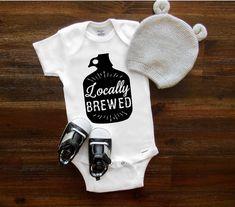 Cool baby onesie®, Baby onesie®, Locally Brewed, Baby shower gift, Beer onesie®, Hipster onesie®, Baby girl, Baby boy, Toddler Shirt Newborn by TheBarnCustomDesigns on Etsy https://www.etsy.com/listing/578616131/cool-baby-onesie-baby-onesie-locally