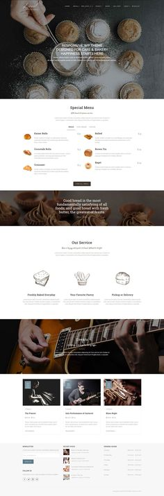Liesel - Cafe, Dining and Bakery WordPress Theme #wordpressthemes #html5templates #responsivedesign #html5themes #newwordpressthemes