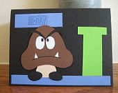 Super Mario Brothers Goomba Birthday Card