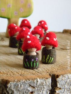 Waldorf Toadstool Tots made to order Easter basket by MamaWestWind
