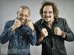 Theo Rossi and Kim Coates, Sons of Anarchy.
