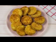 Fried zucchini medallions: a delicious side dish ready in a few minutes! - YouTube Youtube Cooking, Zucchini Fries, Cheddar Cheese, Side Dishes, Muffin, Vegetables, Breakfast, Ethnic Recipes, Food