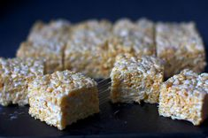 salted brown butter crispy treats - I call these Adult Rice Krispie Bars