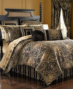 croscill bradney 4pc bedding collection a allover pattern is accented by lush red accents on the bradney bedding collection fu2026