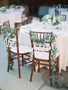 Rustic sweetheart chairs: http://www.stylemepretty.com/2015/09/21/intimate-summer-sunstone-villa-wedding/ | Photography: Luna de Mare - http://lunademarephotography.com/