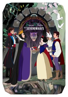 """""""Who is the fairest one of all?"""" Disney Au, Cute Disney, Disney And Dreamworks, Disney Magic, Disney Pixar, Disney Princess Art, Disney Fan Art, Disney Animation, Animation Film"""