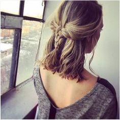cute braids for short hair