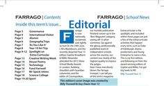 "Farrago - Summer 2013 - ""recently departed Year 13 Sophie Broadbent"" reference"