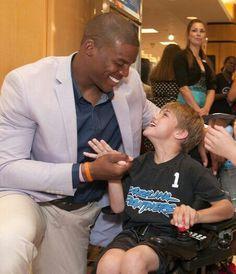 Cam Newton loves the kids! <3
