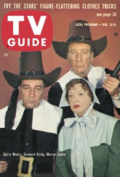 The Gary Moore Show -- Thanksgiving episode - Garry Moore, Durward Kirby and Marion Lorne (who some of you know best as Aunt Clara on Bewitched) -- 1961 Flattering Outfits, Vintage Television, Vintage Thanksgiving, Star Show, Old Shows, Comedy Tv, Vintage Tv, Tv Guide, Old Tv