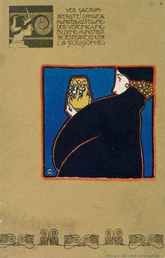 Koloman Moser Postkarte Ver Sacrum 1898 - Category:Ver Sacrum – Wikimedia Commons