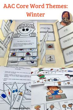 AAC users need to expand their vocabulary beyond a small set of core words. Using thematic units helps to make vocabulary learning easier and more effective for students with language disorders. Using repeated vocabulary - both core & fringe - in multiple Vocabulary Activities, Language Activities, Speech Activities, Interactive Activities, Teaching Resources, Teaching Ideas, Winter Fun, Winter Theme, Winter Holidays