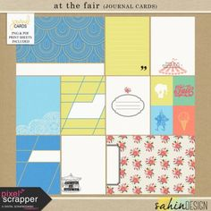 At The Fair {journal cards} | pocket cards, journal cards, project life, printable, scrapbooking, digital scrapbooking,