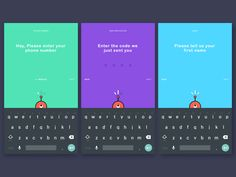 Onboarding screens for an Android App.