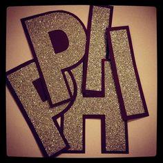Glitter sorority letters