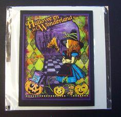 Alice in Wonderland Halloween Card - aceo fine art print Giclee greeting card blank. $4.75, via Etsy.