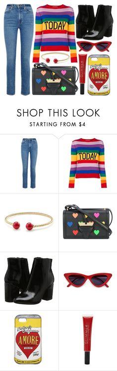 """street style"" by sisaez ❤ liked on Polyvore featuring Khaite, Alberta Ferretti, David Yurman, Loewe, Dolce&Gabbana and Forever 21"