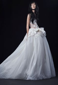 Brides.com: . Wedding dress by Vera Wang