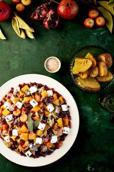 Wine Roasted Vegetables with Feta #glutenfree - CaliZona