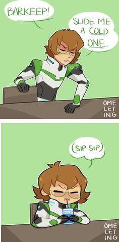 VLD fanart - When Pidge needs a break, they take simple pleasures