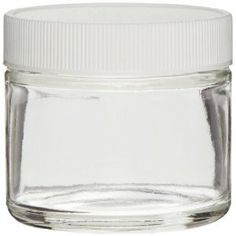 Jars for scrubs - Greenwood Products Clear Glass Straight Sided Jar, with White Polypropylene PTFE Lined Cap, Assembled