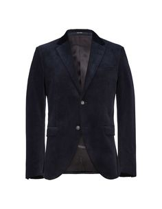 """Men's blazer in cord. Features slightly wider notch lapels. Two-button closure. Straight double jet pockets and double back vents. Slim fit. </br></br>For a complete suit look wear it with <a href=""""http://tigerofsweden.com/se/trousers/rodman-trousers-T63627002.html"""" style=""""font-weight:bold; text-decoration: underline;"""" target=""""_blank"""">Rodman trousers</a>"""