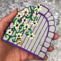 These stunning fairy doors are all individually handpainted - meaning no two will ever be the same, so if you see one you like, make sure to snap it up. Skirting Boards, Beautiful Fairies, Painting Wallpaper, Fairy Doors, Bee, Hand Painted, Floral, How To Make, Products