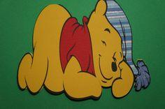 Sleeping Winnie the Pooh Card by MomsCrazyCraftroom on Etsy