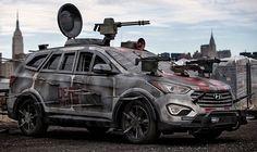 El coche anti zombis: Hyundai con cuchillas para The Walking Dead