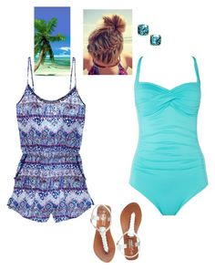 """""""Swimming in the Summer Heat"""" by lillyd26 ❤ liked on Polyvore featuring Seafolly, Victoria's Secret and Kate Spade"""